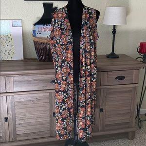 LuLaRoe women's long cardigan duster